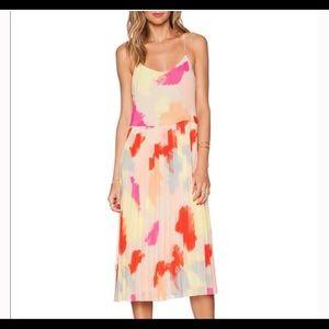 1. State Crystal Pleated Midi Dress